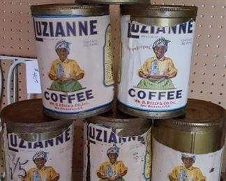 Luzianne coffee cans