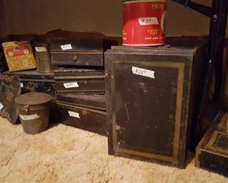 Tin boxes galore