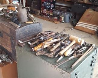 Military trunk and tools