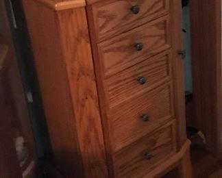 Oak jewelry cabinet