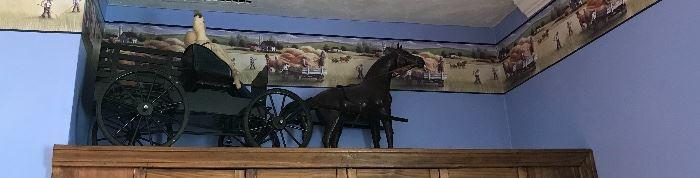 Amish livestock wagon sampler