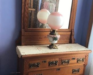 This dresser matches the high headboard bed