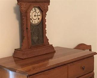 Nice dresser and vintage clock