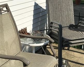 Assortment of patio chairs
