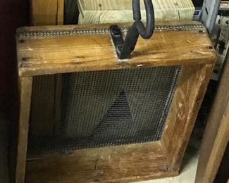 Old sifter for seeds