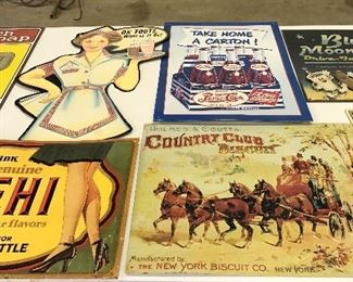 Signs, some old , some reproductions