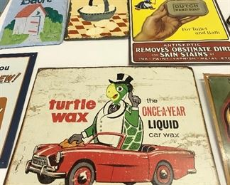 Some old, some new metal signs