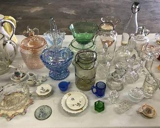 Lots of pretty glassware