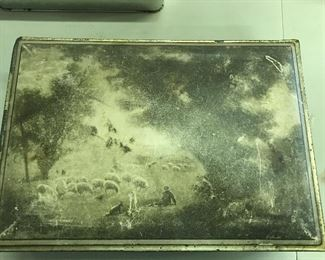Old cookie tin