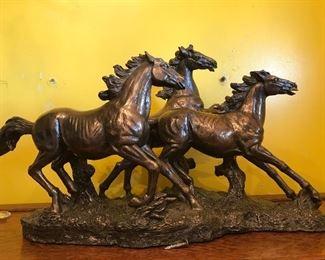 Metal-galloping horses