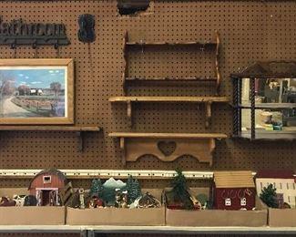 Shelves, curio shelf, cast iron , farm sets