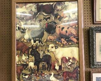 Farmyard  framed print