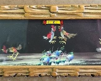 Art made of feathers, was bought as a souvenir