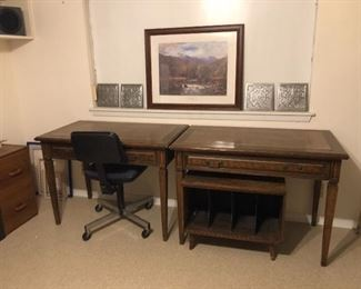 "usa made- desks ""young manufacturing co.   bottom wood chest is for albums!! not part of desk"