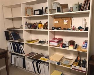lots of note books -office items   few cd's unique books on violin making and just information and history on the violin-   AND THIS IS NOT THE BOOK ROOM WHICH IS PACKED