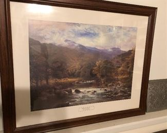 "A A glendening  trout "" framed picture"