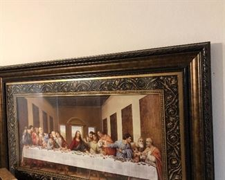 fabulous  framed last supper