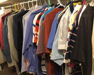 lots of  clothes- mens - polos tees- many retro items - good brands  -lots to see