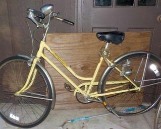 Yellow Schwinn Bike