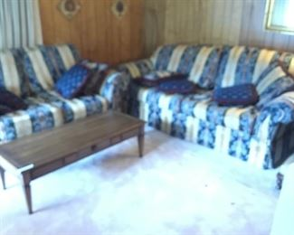 Matching sofa, live seat plus coffee table
