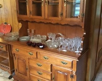 Buffet and hutch with glassware