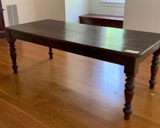 MAHOGANY LIBRARY TABLE $425.00 DOUBLE SIDED DRAWERS
