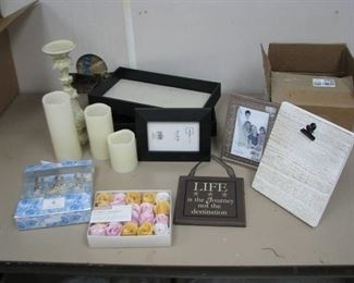 Picture Frames Jewelry Trays, LED Candles…