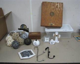 Wood Boxes, OTD Hooks, Décor Items