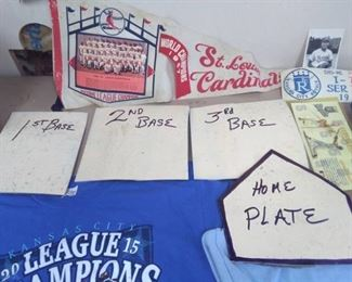 Royals T-Shirts, St. Louis Cardinals Pennant, George Brett Stamp Cover