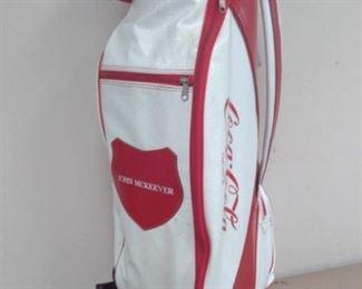 Coca Cola Golf Bag and Collector Golf Balls / Items