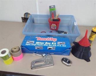 Miter Box Kit, Push Stapler, Padlock…