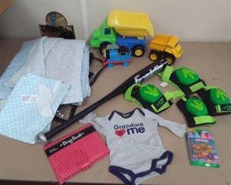 Baby Blanket, Toy Trucks, Brag Book…