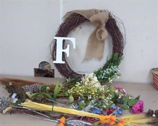Floral Items and Wreath