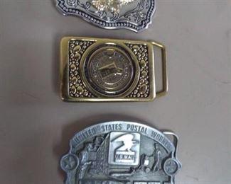 Lot of 3 Belt Buckles- USPS, Eagle…
