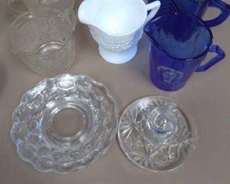 Glass Creamer/Sugar Sets and Plates