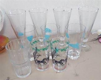 Vintage Etched Glasses, Juice Glasses, Bowls, Plate…