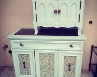 Broyhill Lighted Cabinet and Nightstand
