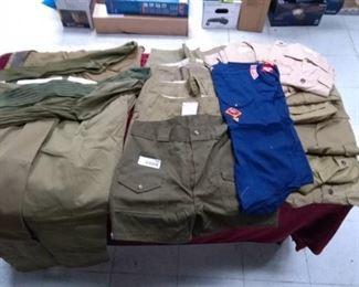 Lot of Boy Scout / Cub Scout Uniforms - Shirts, Shorts, Pants and LONG Socks Sz 14