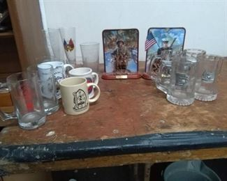 Marines Collectibles Lot - Glasses, Mugs