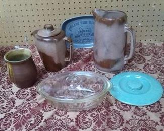 Frankoma, Glassbake, Pewter Dish