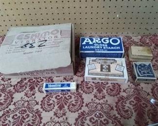 Eskimo Vibrator, Advertising Boxes, Beaded Cord