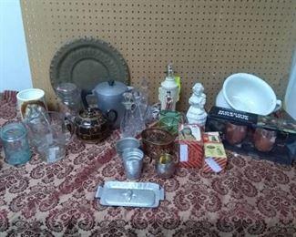 Lamps, Hammered Aluminum, Chamber Pot, Brass