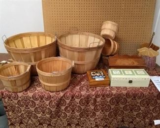 Gardening Baskets and Misc Collectible Boxes