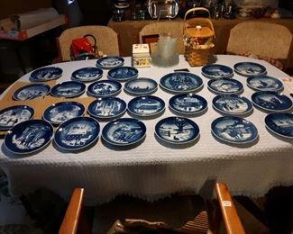 Royal Copenhagen Christmas Plates, 23 Plates plus 3 Specialty Plates