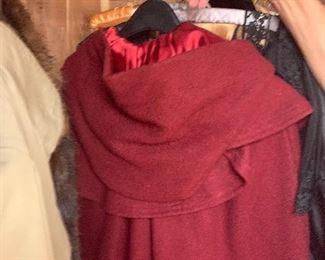 Vintage Red Velvet Cloak - $40