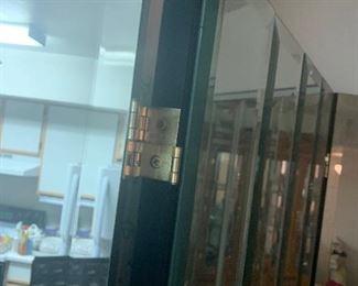 Mid Century Modern Hollywood Regency Era  Heredon 4 panel Mirror Floor Screen $550