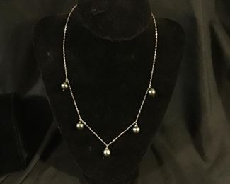 MidCentury Modernism Necklace Pearls - $25