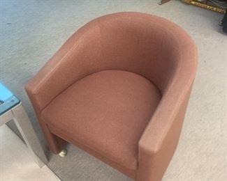 Vintage Kittinger tub chair, $200 Leather with Nailhead trim.