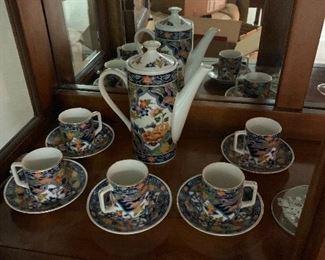 Japanese Amari tea set Porcelain -$25