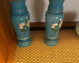 Bristol Glass vases$30